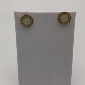Marc by Marc Jacobs Cream and Gold Earrings